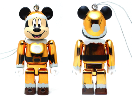 Specialくじ Disney MICKEY MOUSE サンタ ver 金メッキ仕様 ベアブリック(BE@RBRICK)