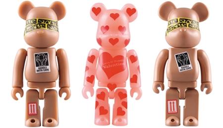 1/30 発売のベアブリック(BE@RBRICK) -Valentine 2010 & BMW Studio ONE 50% 100% & STAPLE 100% 400%-