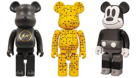 7/3 発売のベアブリック(BE@RBRICK) -fragmentdesign 1000% & 超合金 200% EAMES & ミッキーマウス BLACK & WHITE 400%