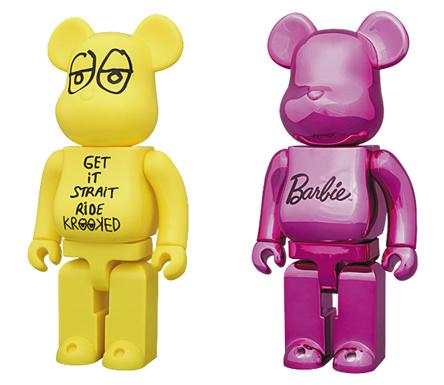 12/4 発売のベアブリック(BE@RBRICK) -ベアサンタ 2010 50% & 超合金 200% MICKEY MOUSE & X'mas 2010 & KROOKED 400% & バービー 400%