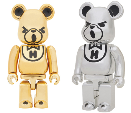 10/28 発売のベアブリック(BE@RBRICK) -HYSTERIC BEAR GOLD & HYSTERIC BEAR CHROME 400%-