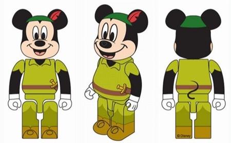 セブンイレブン ミッキーマウス 100% & 400% ベアブリック(BE@RBRICK)