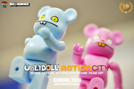 ACTION CITY 10th Anniversary UGLYDOLL 2pc ベアブリック(BE@RBRICK)