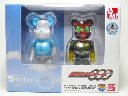 a-nation 仮面ライダーオーズ 2pc ベアブリック(BE@RBRICK)