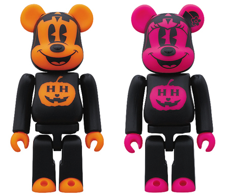 BABBI Halloween 2010 MICKEY MOUSE & MINNIE ベアブリック(BE@RBRICK)