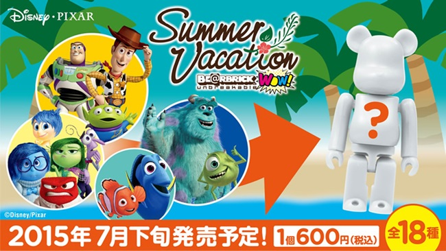 BE@RBICK WOW! Disney PIXAR Summer Vacation ベアブリック