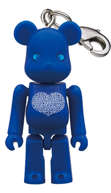 Birthday Happy (International Love Heart) AZUR 70% ベアブリック(BE@RBRICK)