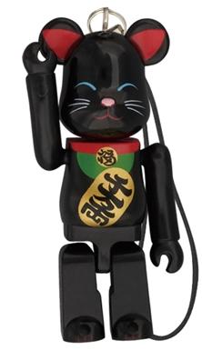 Birthday Happy 招き猫 黒 70% ベアブリック(BE@RBRICK)