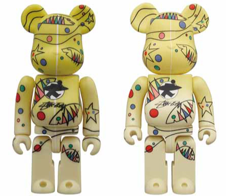 WORLD WIDE TOUR 2 STUSSY 100% 400% ベアブリック(BE@RBRICK)