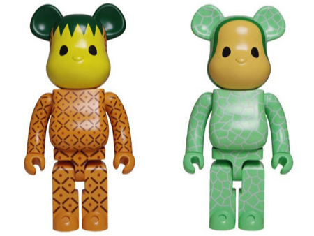 CLOT Levi's Fruit Pineapple & Melon 1000% ベアブリック(BE@RBRICK)
