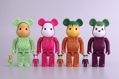 CLOT Levi's Fruit 100% & 400% 4種 ベアブリック(BE@RBRICK)