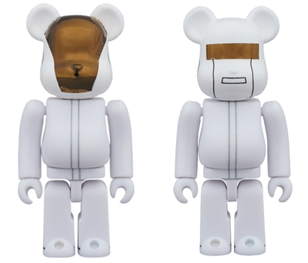 Daft Punk WHITE SUITS Ver 100% 2pc ベアブリック (BE@RBRICK)