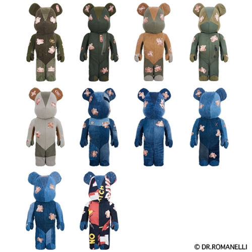 DRxROMANELLI x FABRICK ONE OF KIND COLLECTION 1000% ベアブリック (BE@RBRICK) [情報]
