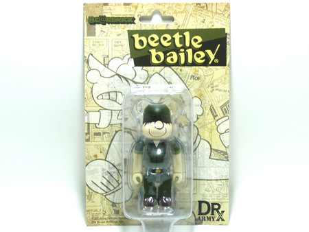 DRX ARMY beetle bailey 100% ベアブリック(BE@RBRICK)