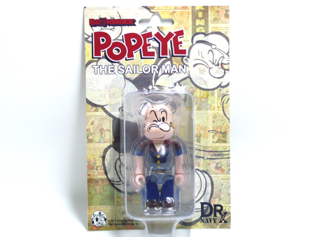 DRX NAVY POPEYE THE SAILOR MAN 100% ベアブリック(BE@RBRICK)