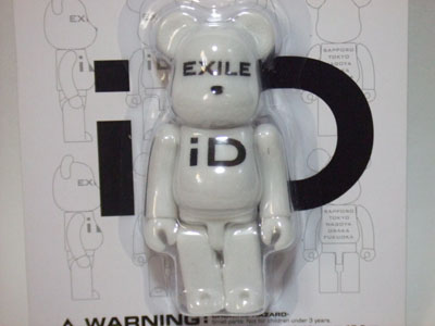 EXILE iD 100% ホワイト ベアブリック(BE@RBRICK)