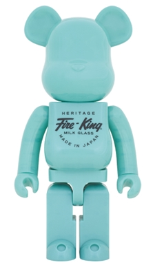 Fire-King 1000% JADE-ITE ベアブリック (BE@RBRICK)