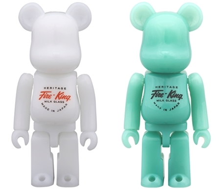 Fire-King 100% WHITE / JADE-ITE ベアブリック (BE@RBRICK)