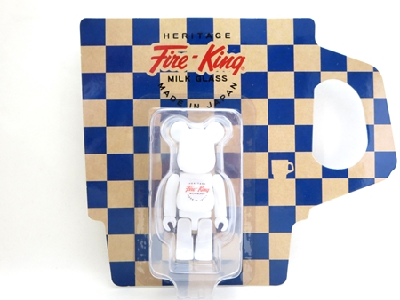 Fire-King 100% WHITE ベアブリック (BE@RBRICK)
