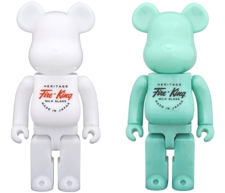 Fire-King 400% WHITE / JADE-ITE ベアブリック (BE@RBRICK)