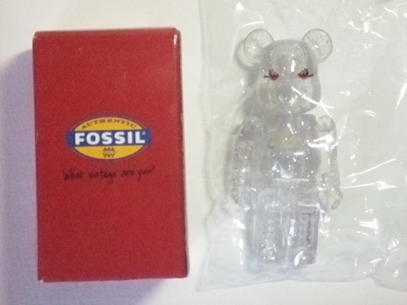 FOSSIL クリア ベアブリック(BE@RBRICK)