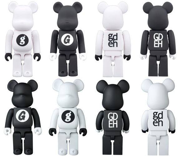 GOODENOUGH 100% 400% WHITE BLACK ベアブリック (BE@RBRICK)