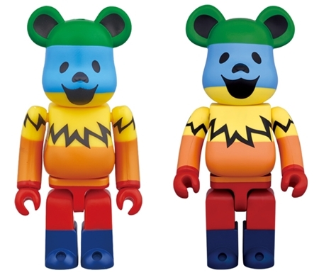 GRATEFUL DEAD DANCING BEARS 100% 1000% RAINBOW ベアブリック (BE@RBRICK)