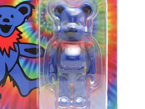 GRATEFUL DEAD DANCING BEARS 100% ブルー ベアブリック (BE@RBRICK)