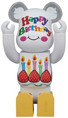 グリーティング 誕生日 400% ベアブリック (BE@RBRICK)