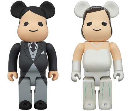 グリーティング 結婚 400% ベアブリック(BE@RBRICK)