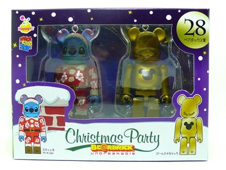 Happyくじ Disney Christmas Party ペアBOX 28 ベアブリック(BE@RBRICK)