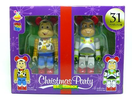 Happyくじ Disney Christmas Party ペアBOX 31 ベアブリック(BE@RBRICK)