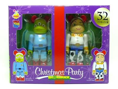 Happyくじ Disney Christmas Party ペアBOX 32 ベアブリック(BE@RBRICK)