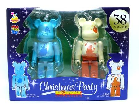 Happyくじ Disney Christmas Party ペアBOX 38 ベアブリック(BE@RBRICK)