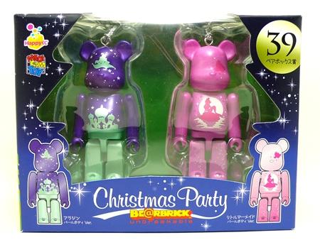 Happyくじ Disney Christmas Party ペアBOX 39 ベアブリック(BE@RBRICK)