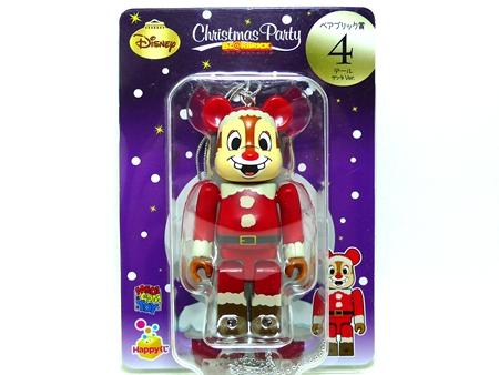 Happyくじ Disney Christmas Party デール サンタ Ver ベアブリック(BE@RBRICK)