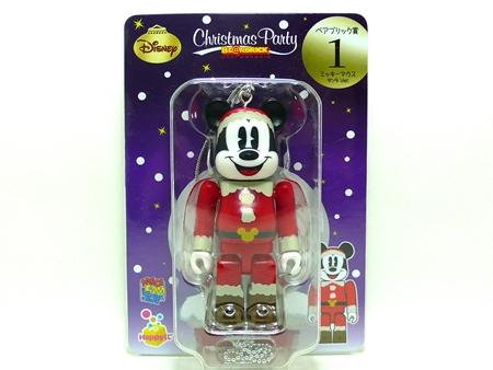 Happyくじ Disney Christmas Party ミッキーマウス サンタ Ver ベアブリック(BE@RBRICK)