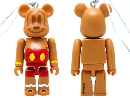 Happyくじ Disney Christmas Party ミッキーマウス ジンジャークッキー Ver ベアブリック(BE@RBRICK)
