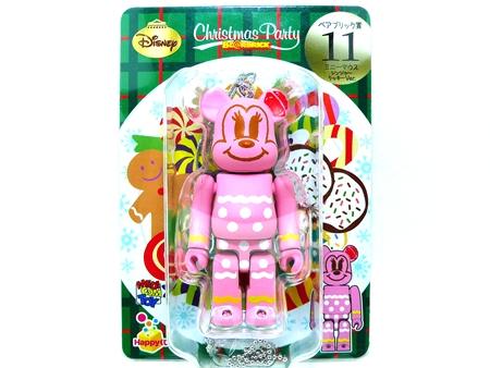 Happyくじ Disney Christmas Party ミニーマウス ジンジャークッキー Ver ベアブリック(BE@RBRICK)