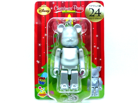 Happyくじ Disney Christmas Party シルバーメタリック ベアブリック (BE@RBRICK)