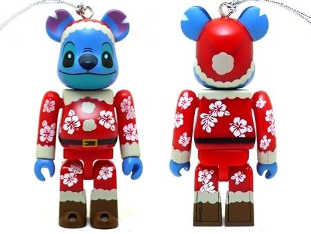 Happyくじ Disney Christmas Party スティッチ サンタ Ver ベアブリック(BE@RBRICK)