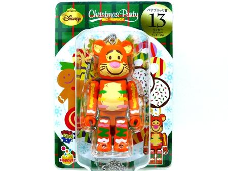 Happyくじ Disney Christmas Party ティガー ジンジャークッキー Ver ベアブリック (BE@RBRICK)