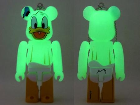 Happyくじ Disney HALLOWEEN MONSTER WOW! ドナルドダック おばけ Ver ベアブリック (BE@RBRICK)