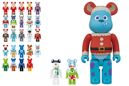 Happyくじ Disney PIXAR Christmas Party 2013 ベアブリック (BE@RBRICK)