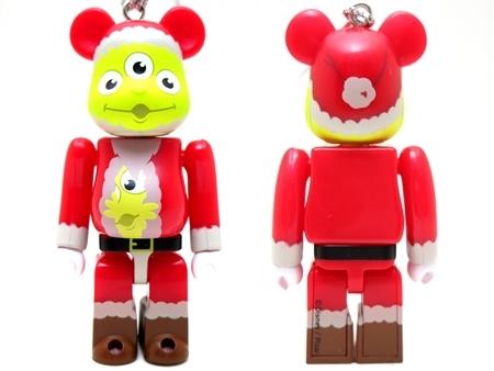 Happyくじ Disney PIXAR Christmas Party 2013 エイリアン サンタ Ver ベアブリック (BE@RBRICK)