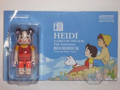 HEIDI(ハイジ) 100% ベアブリック(BE@RBRICK)