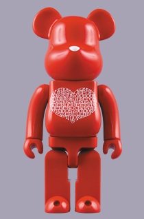 International Love Heart 1000% ベアブリック(BE@RBRICK)