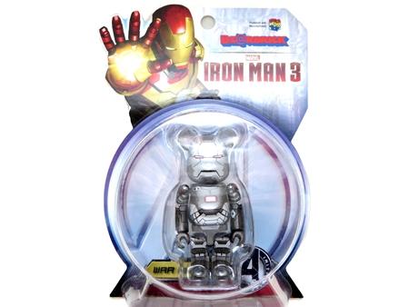 アイアンマン3 WAR MACHINE 100% ベアブリック(BE@RBRICK)