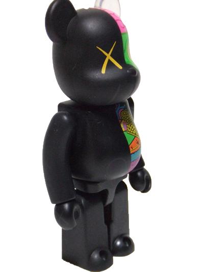 KAWS OF COMPANION(人体模型) ブラック 100% ベアブリック(BE@RBRICK)