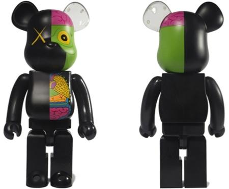 KAWS OF COMPANION(人体模型) ブラック 100% & 400% & 1000% ベアブリック(BE@RBRICK)